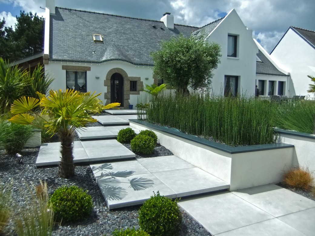 Cr ation de jardins vannes morbihan bretagne design for Jardin design